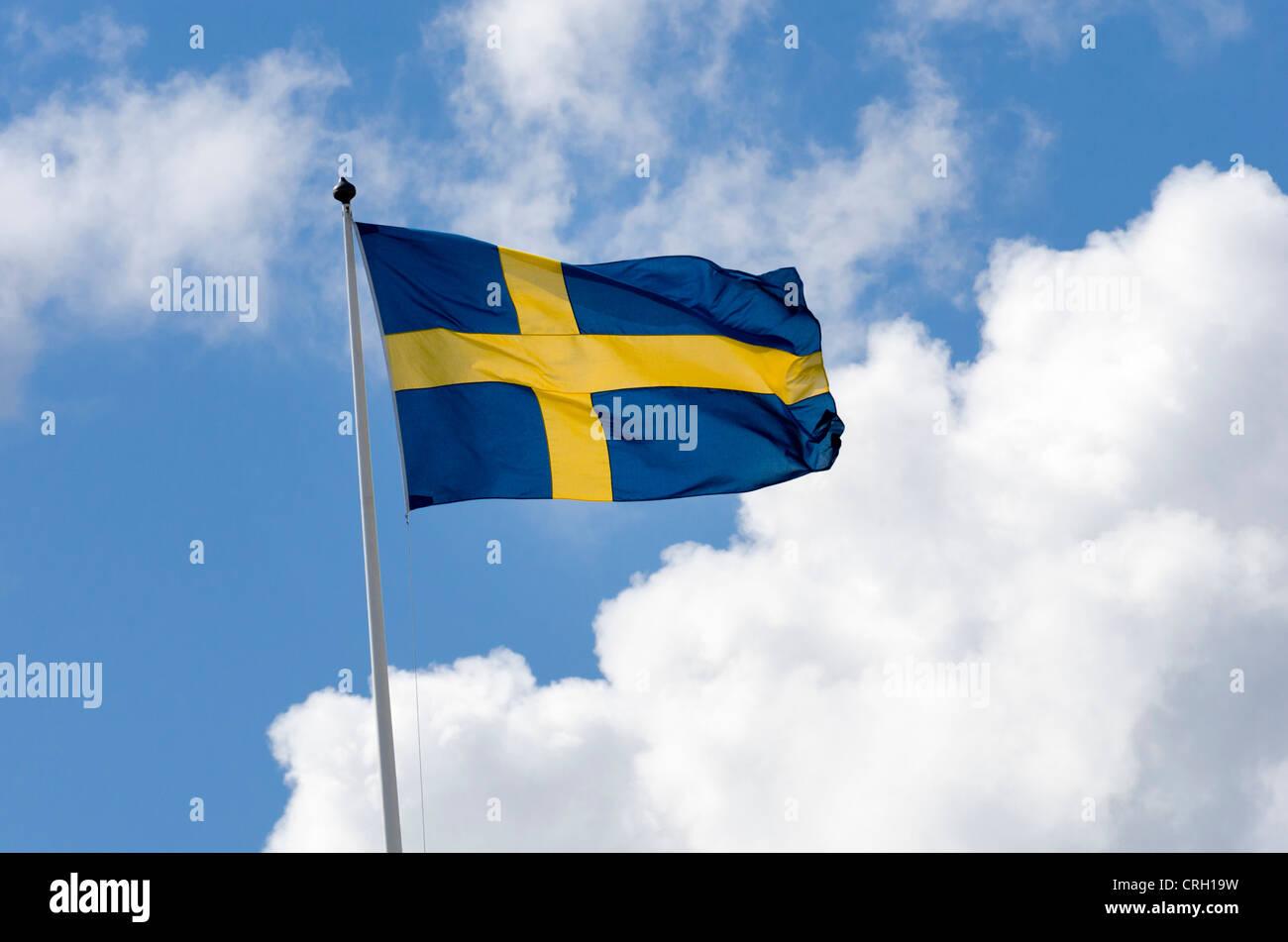 Die Flagge Schwedens Stockbild