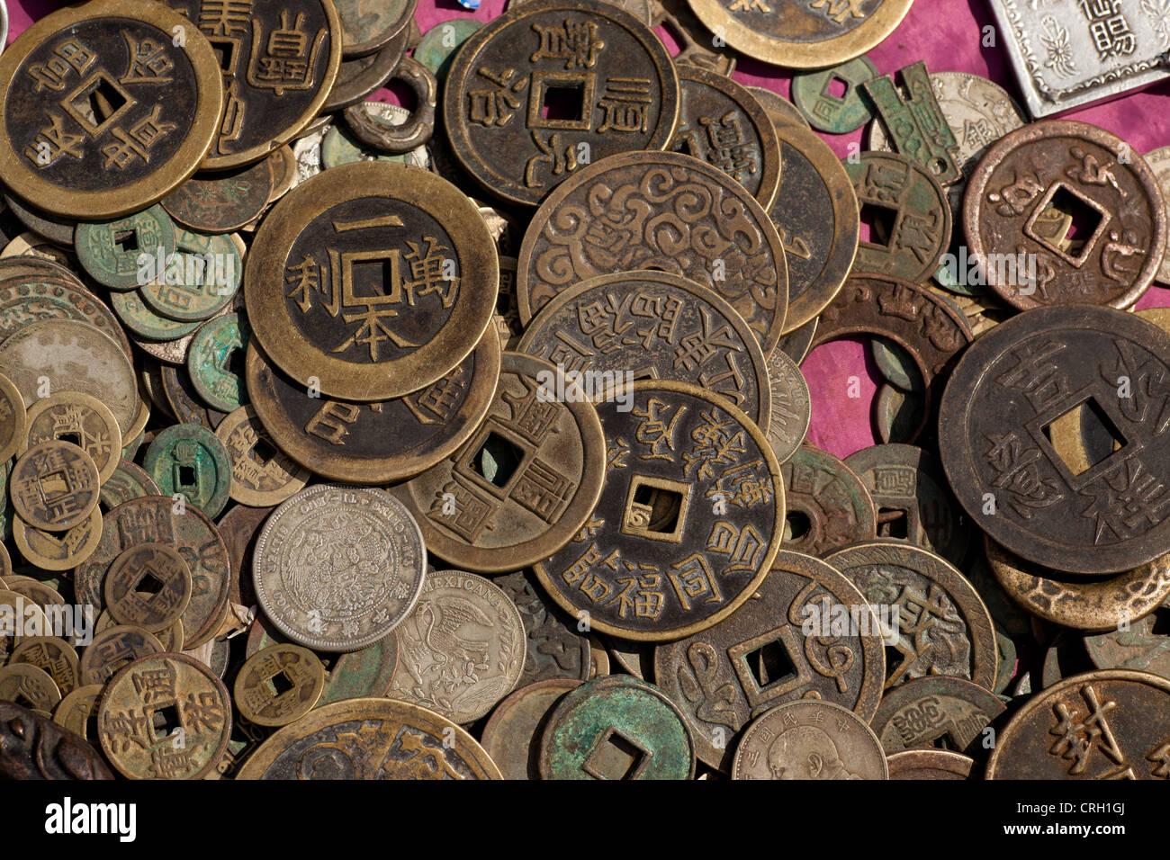 Alte Chinesische Münzen Zum Verkauf An Panjiayuan Flohmarkt Peking