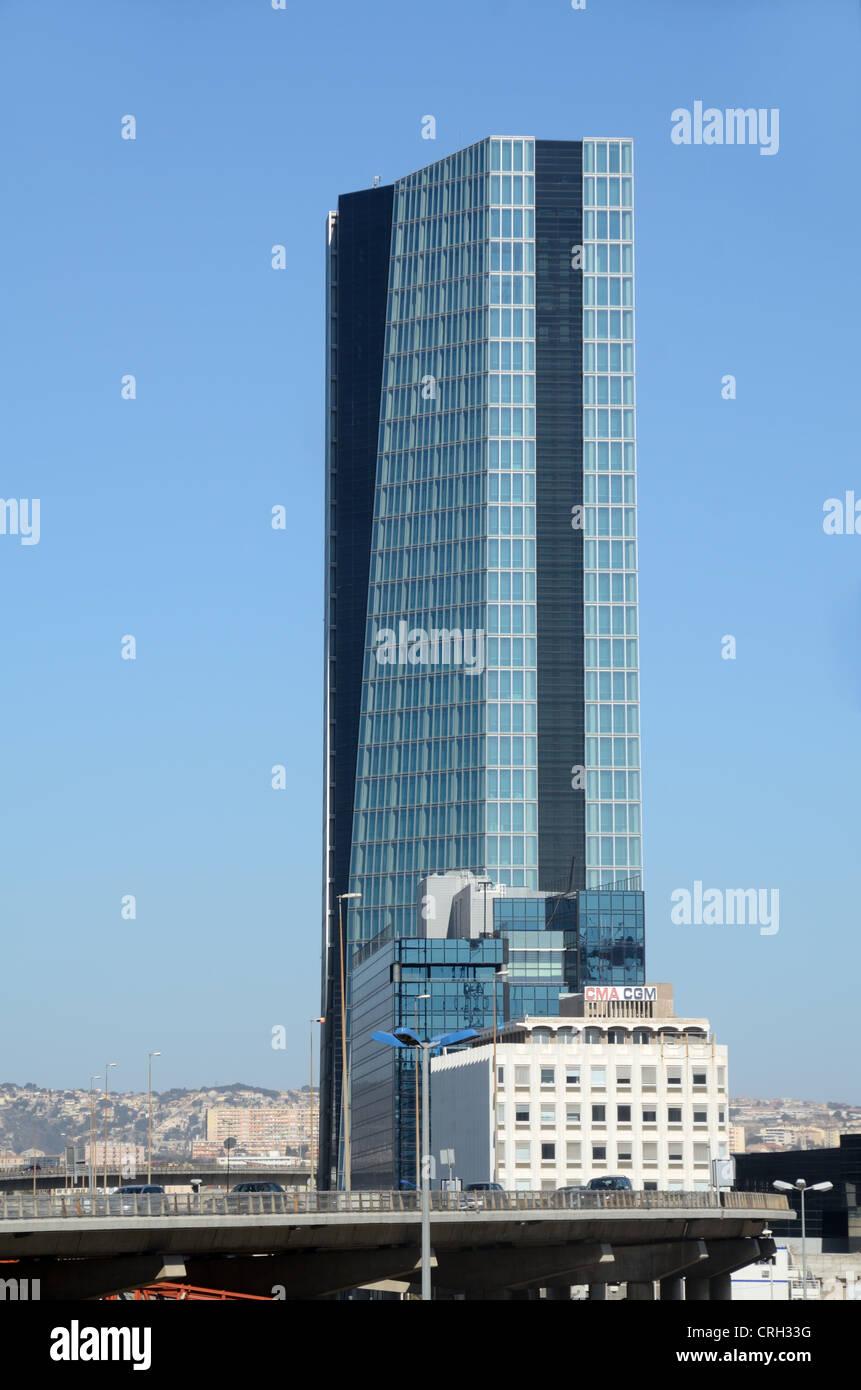 CMA CGM Büroturm Block von Zaha Hadid Marseille oder Marseille France Stockbild