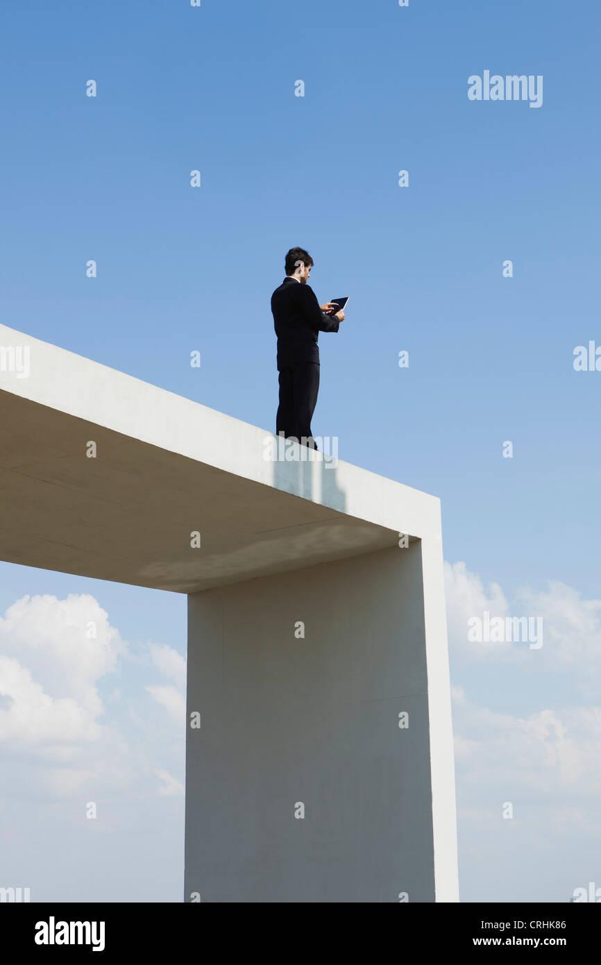 Digital-Tabletten bieten mehr Barrierefreiheit und Mobilität für Business-Profis Stockbild