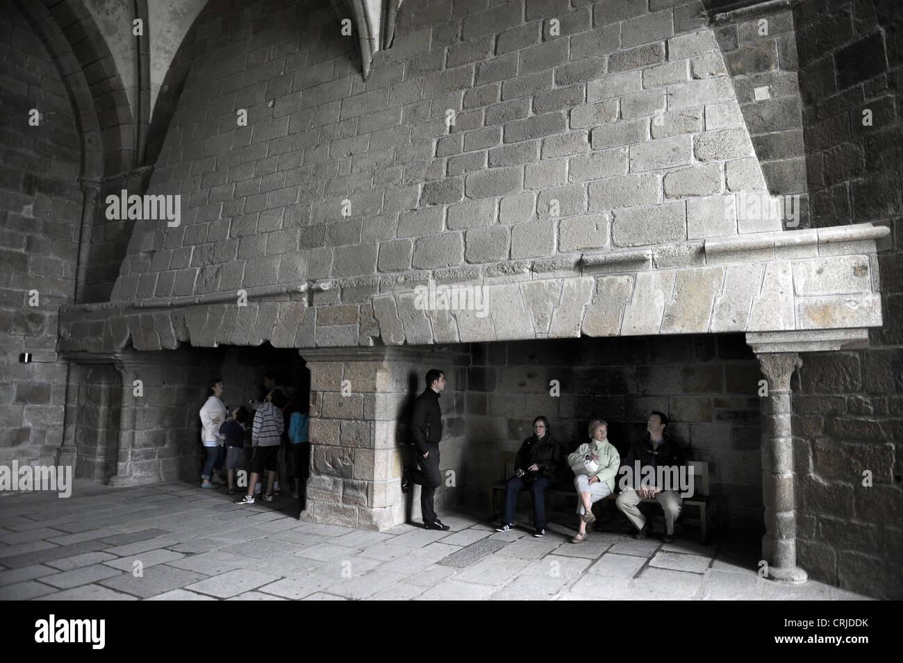 Abtei Mont Saint Michel Interior The Marvel Refektorium Kamine