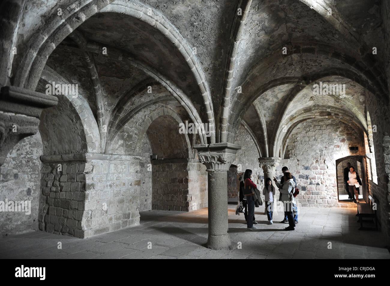 Le Mont Saint-Michel gotischen Innenraum Stockfoto, Bild: 48963610 ...
