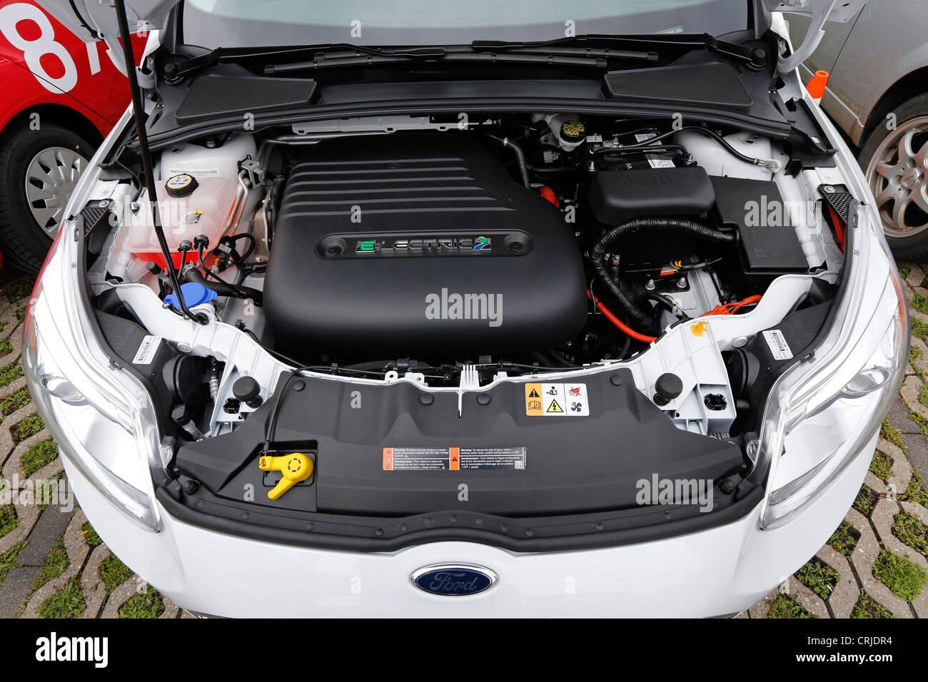 Elektro Motor des Ford Focus ELECTRIC Autos Stockbild
