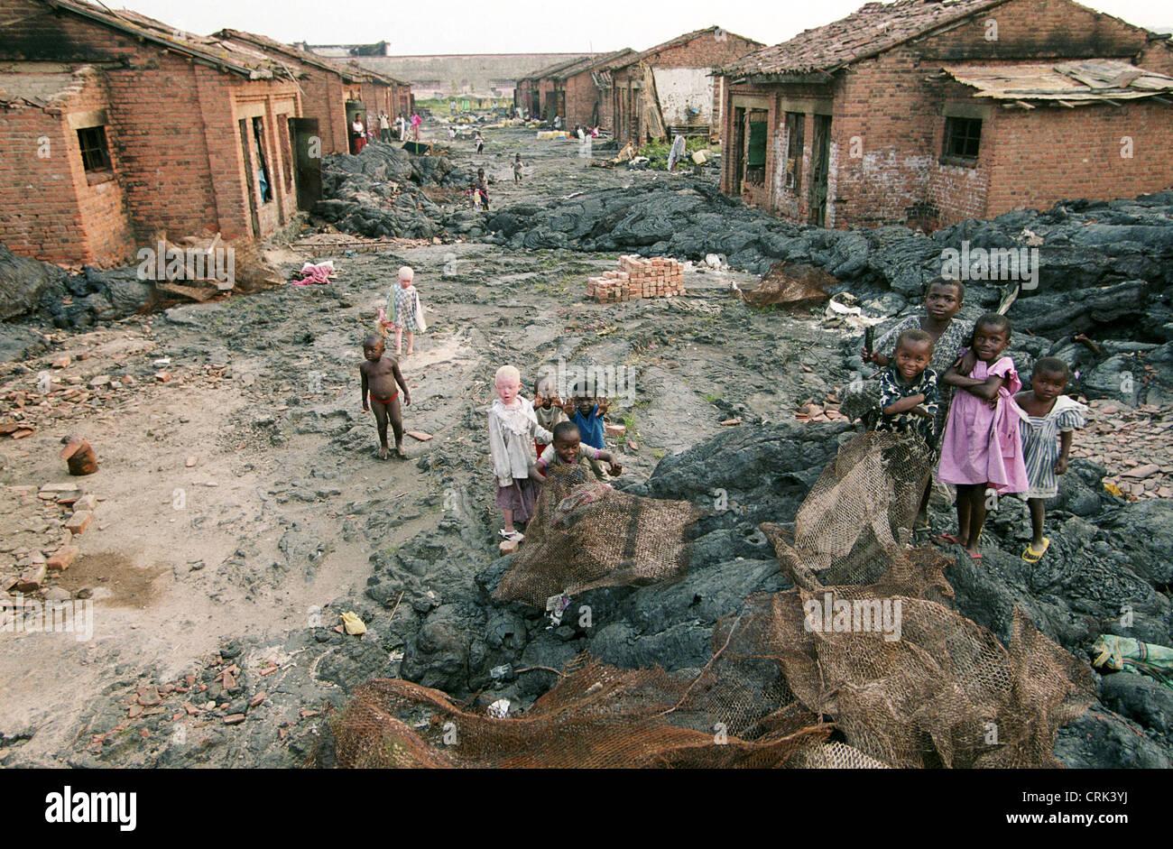 Vulkanausbruch in Goma Stockfotografie - Alamy