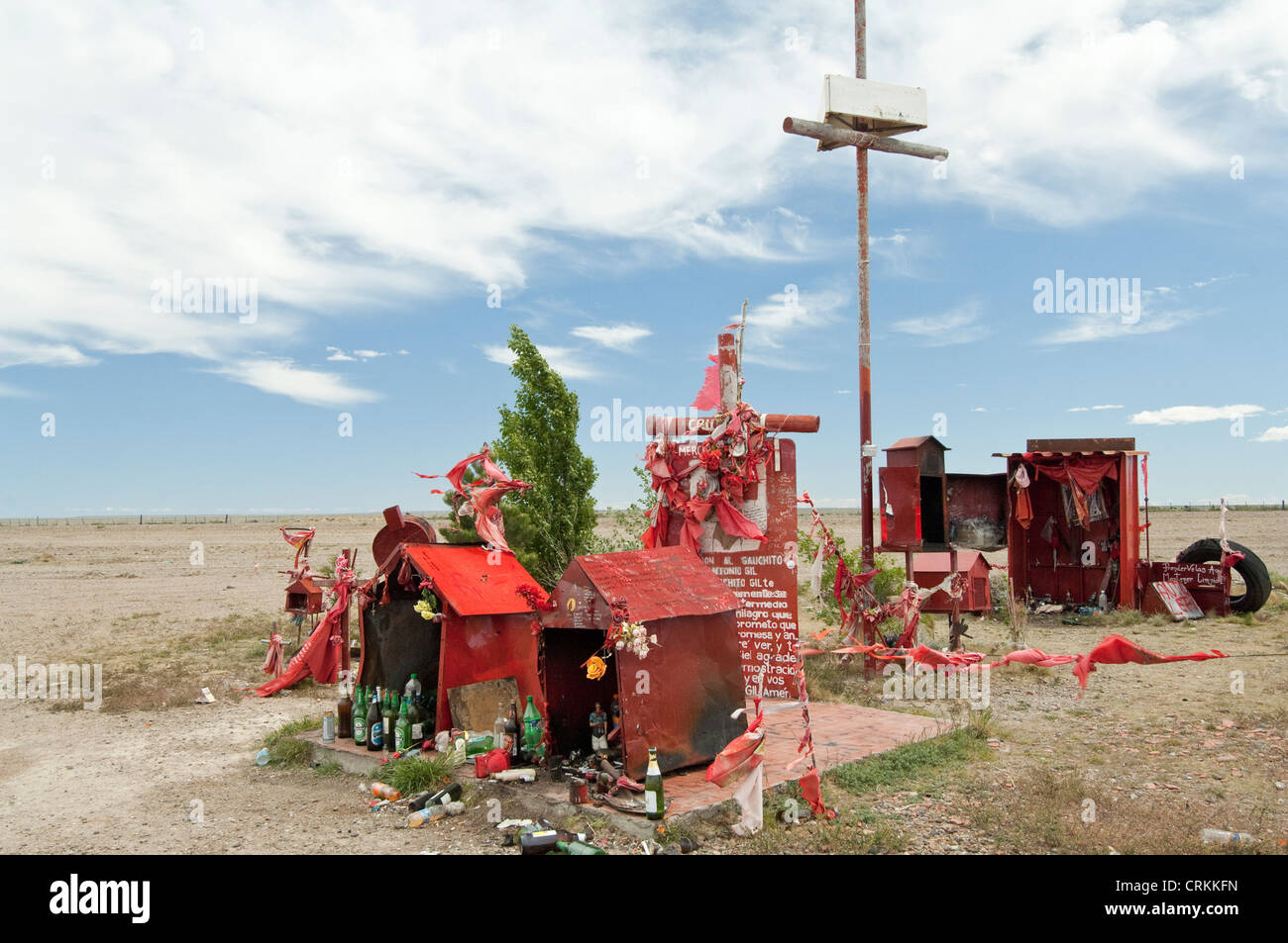 Ein Bildstock gewidmet die Difunta Correa Route 40 südlich von Zapala Neuquén Argentinien Stockbild