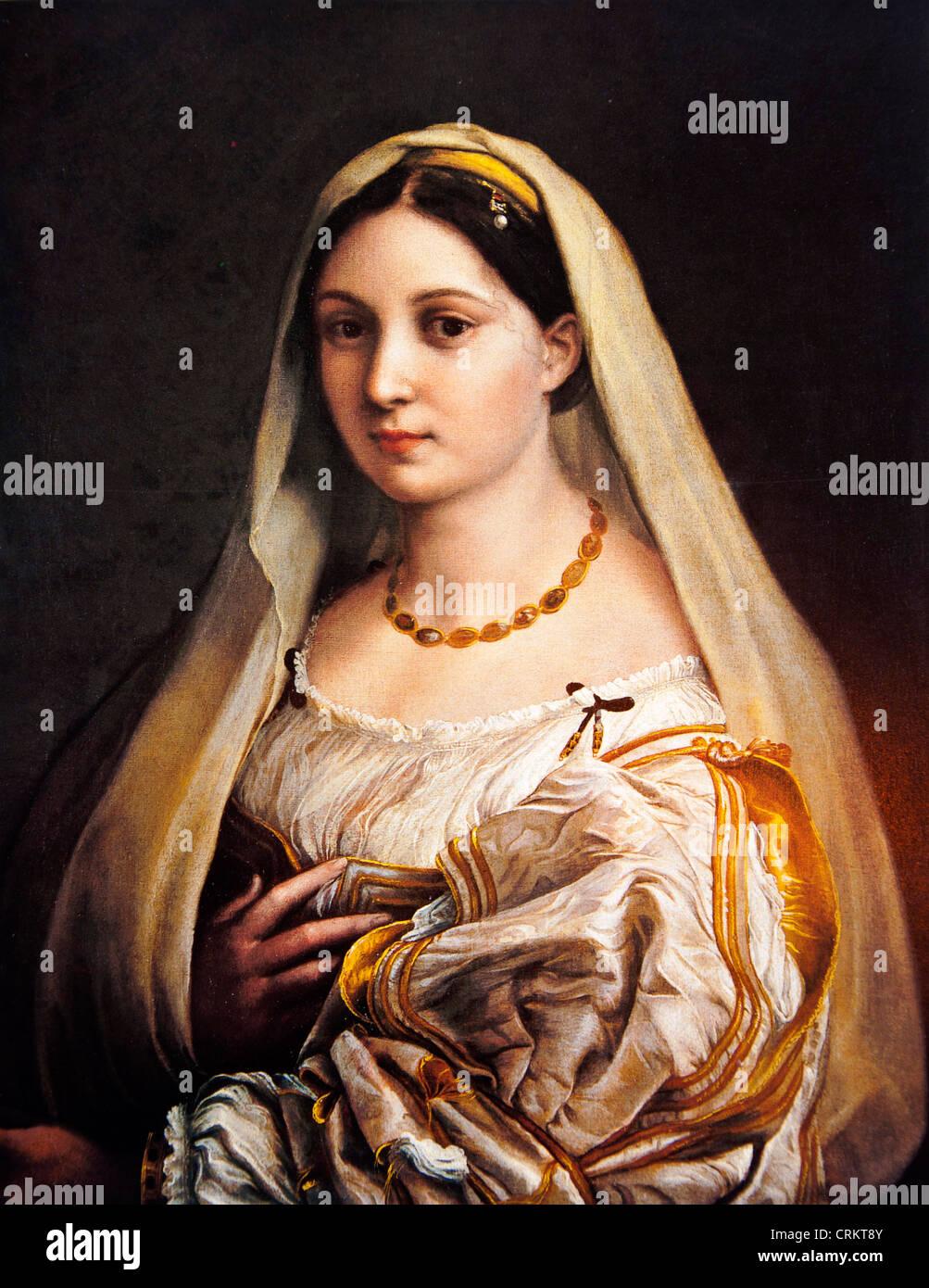 Porträt einer Dame (La Donna Velata) - Raphael Stockfoto