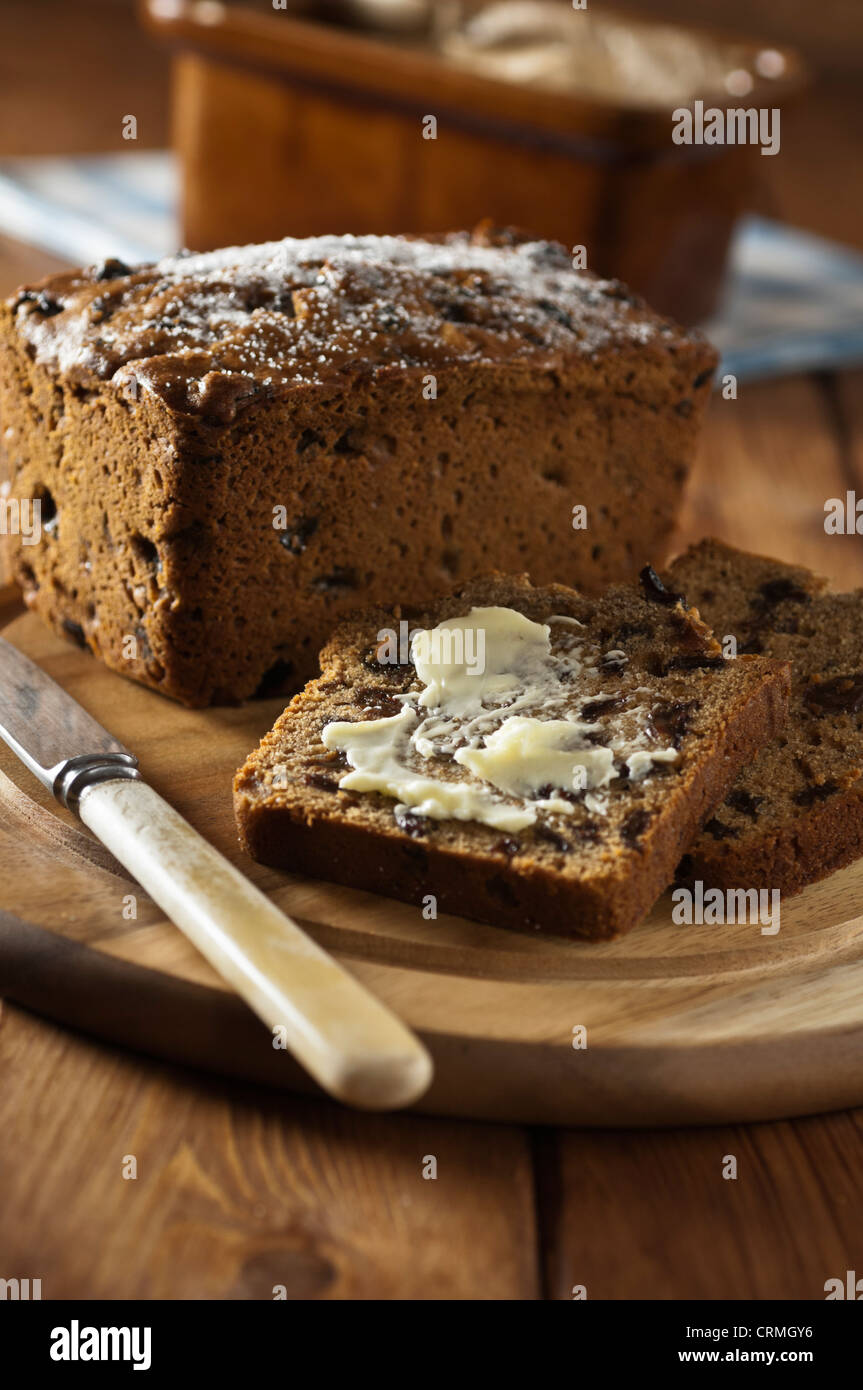 Bara Brith Welsh Obst Brot traditionelle Speisen UK Stockbild