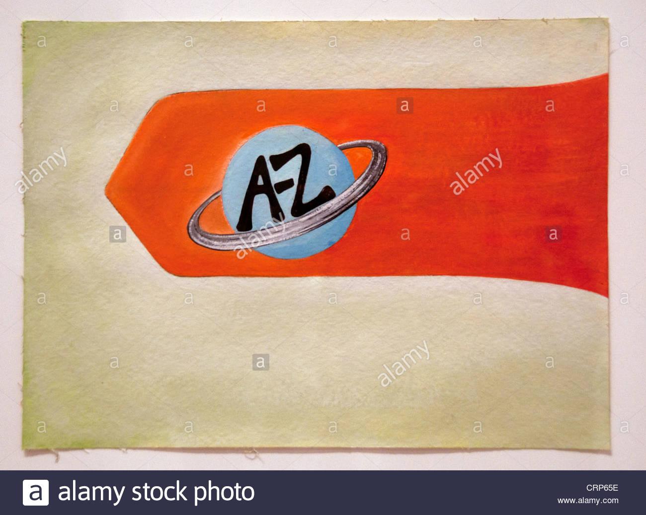 A-Z Logo Studie 1996 Andrea Zittel Amerikaner Vereinigte Staaten von Amerika Stockbild