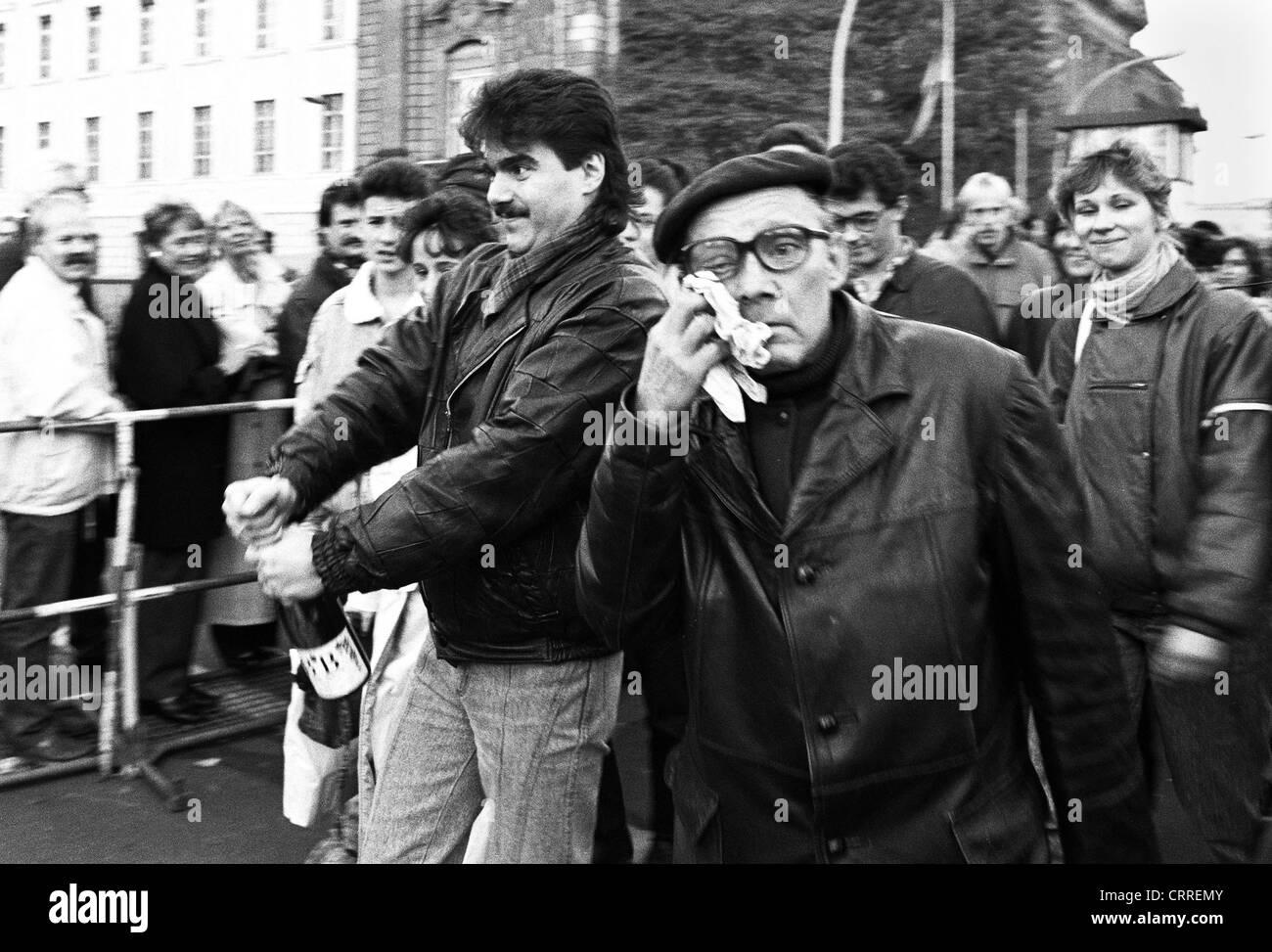 Fall der Mauer 1989, Invalidenstraße, Berlin Stockbild
