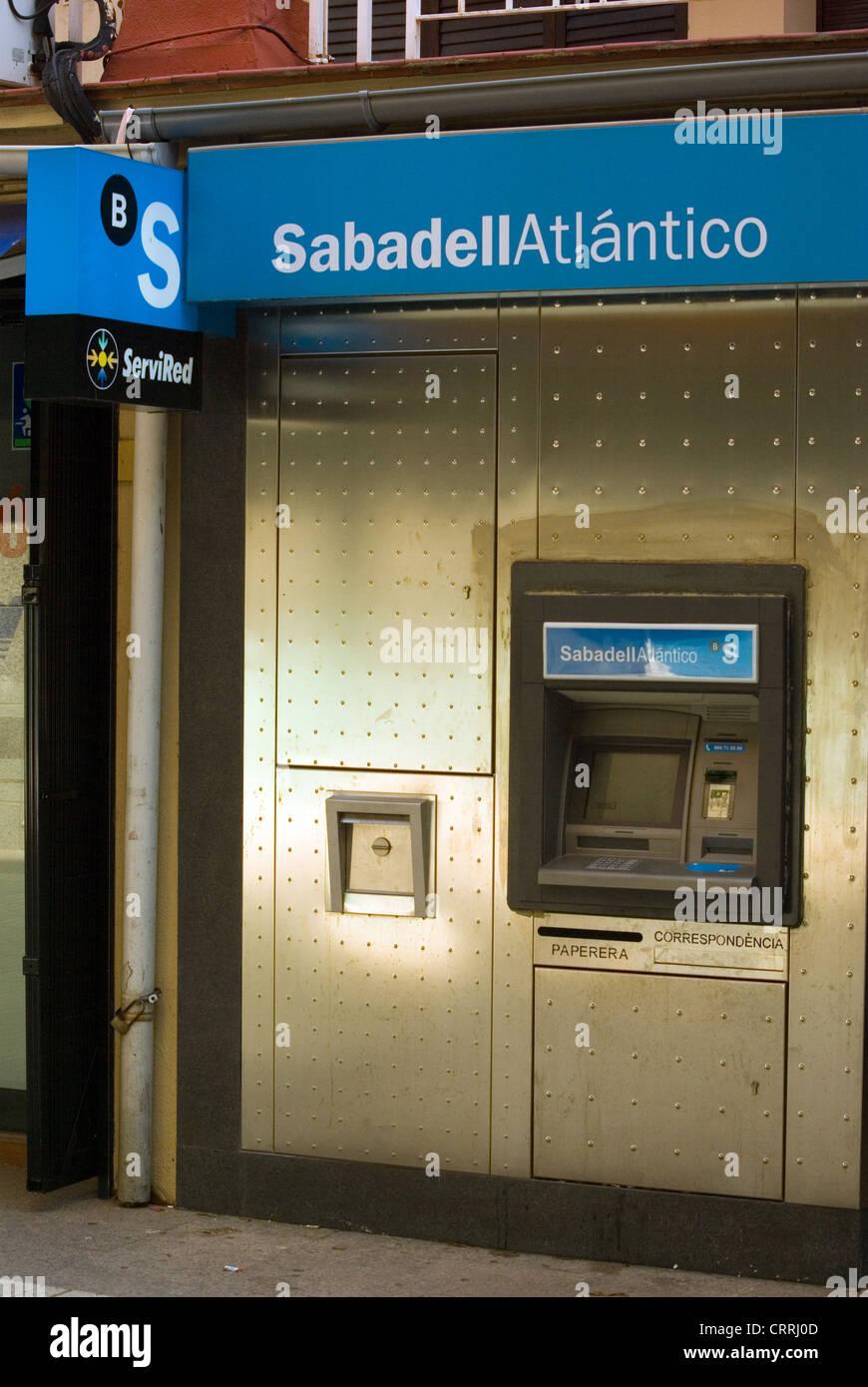 Spanische Banken Sabadell Atlantico. Bank. Stockbild