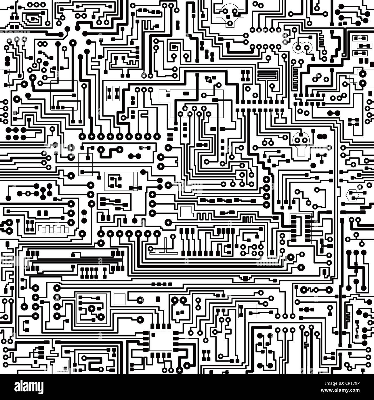 Seamless Pattern Circuit Board Black Stockfotos & Seamless Pattern ...