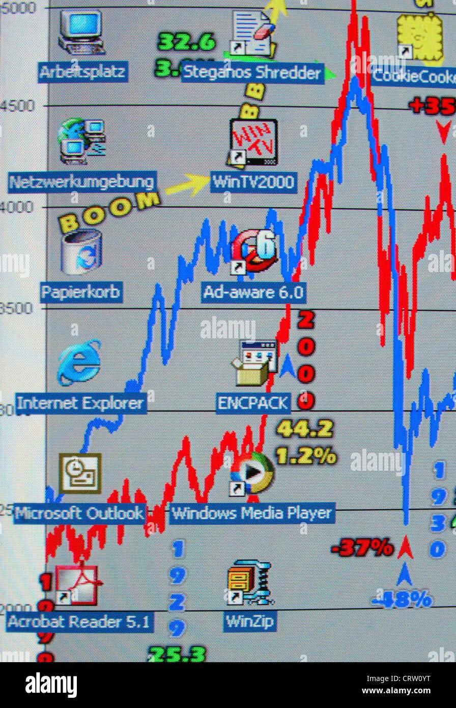 Die Bildschirmgrafik Stockbild