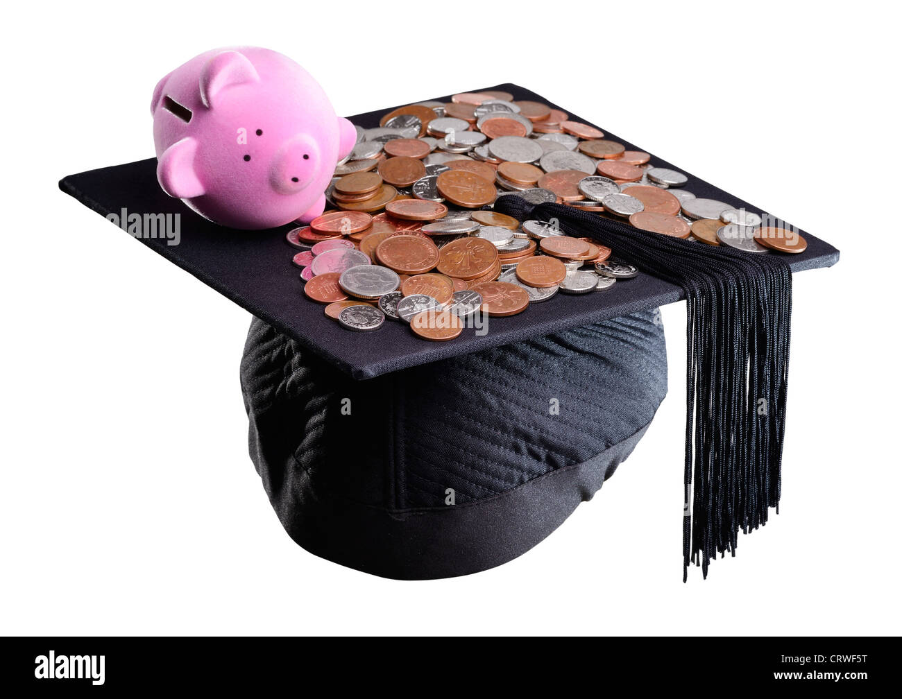 Sparschwein und Mörtel Board-Konzept Stockbild