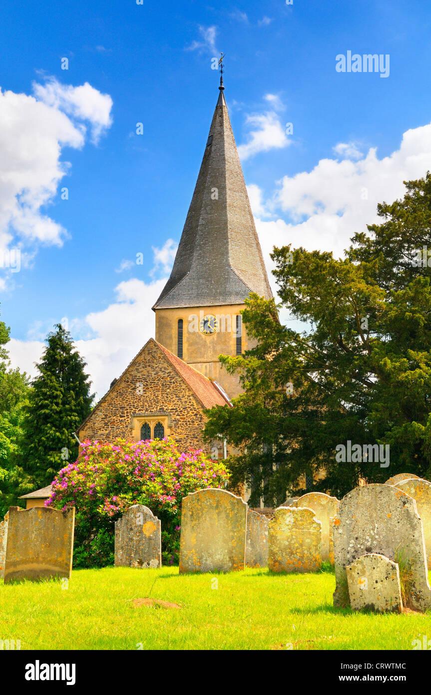 St. James Church, Shere, Surrey, UK Stockbild
