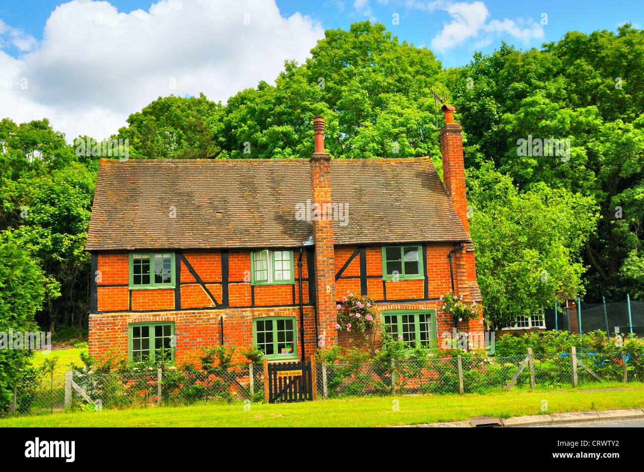 Landhaus in Surrey Hills, England, Großbritannien Stockbild