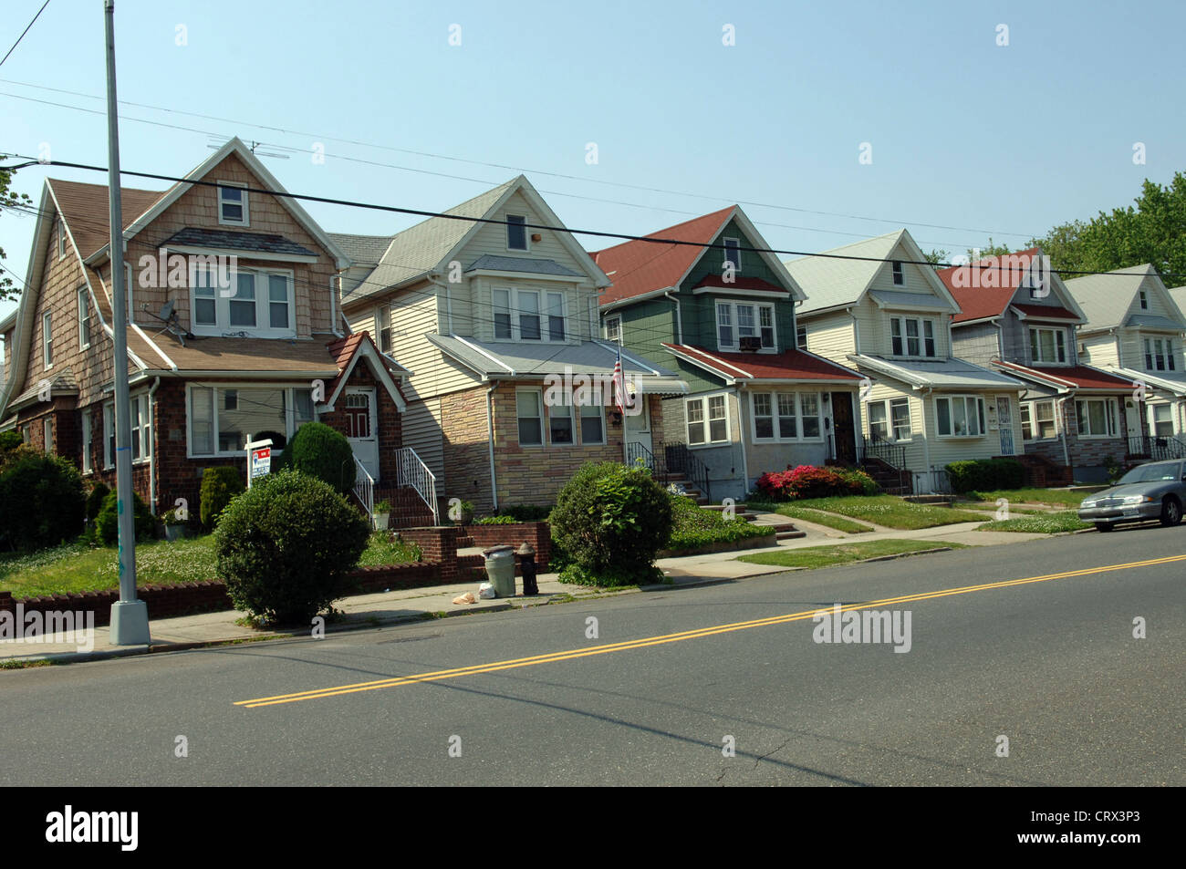 queens new york houses stockfotos queens new york houses bilder alamy. Black Bedroom Furniture Sets. Home Design Ideas