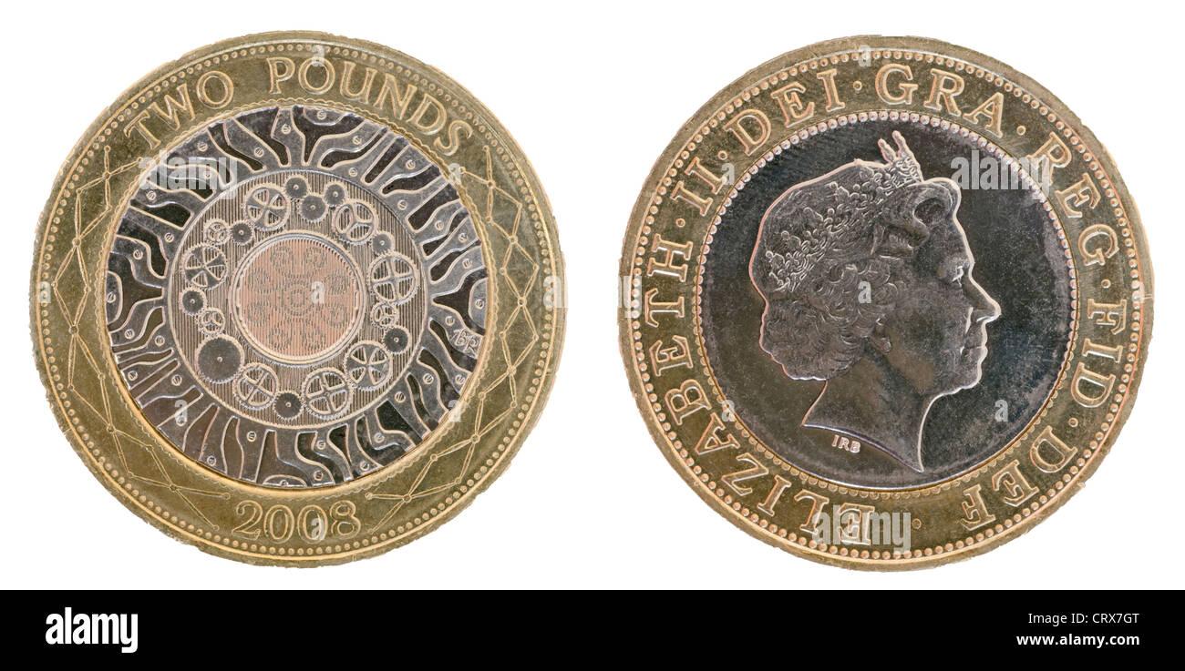 Britische Zwei Pfund Münze Stockfoto Bild 49134536 Alamy