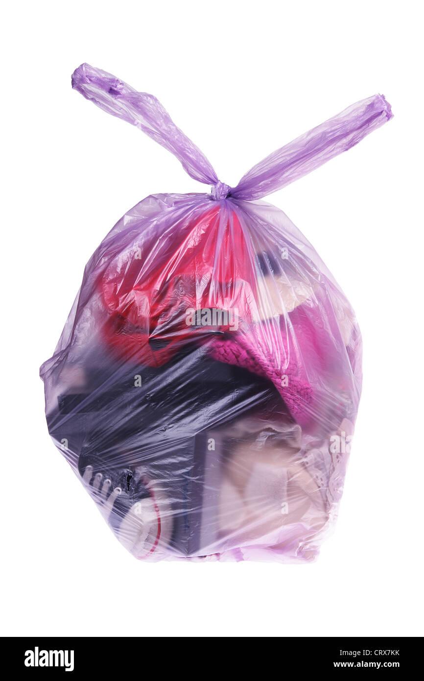 Tasche von Müll Stockbild