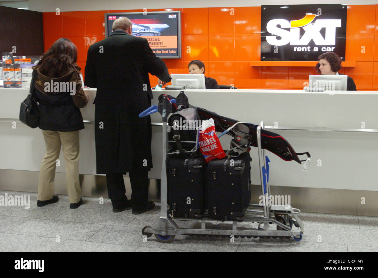 sixt rent a car counter stockfoto bild 49140923 alamy. Black Bedroom Furniture Sets. Home Design Ideas