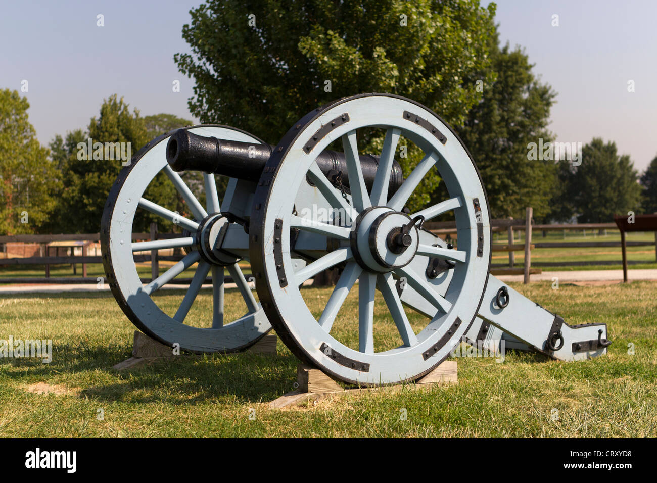 Artillerie-Kanone in Fort McHenry in Baltimore, Maryland USA Stockbild