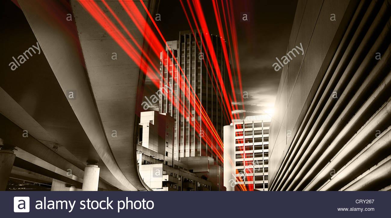 schnelle Stadtverkehr Stockbild