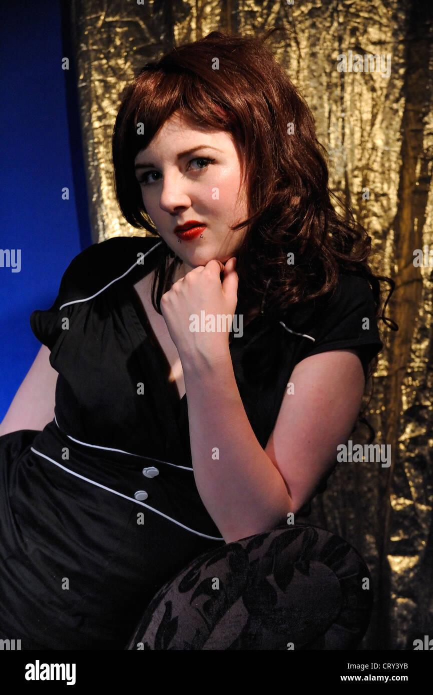 """Luxuria"" eine alternative Mode-Modell Stockbild"