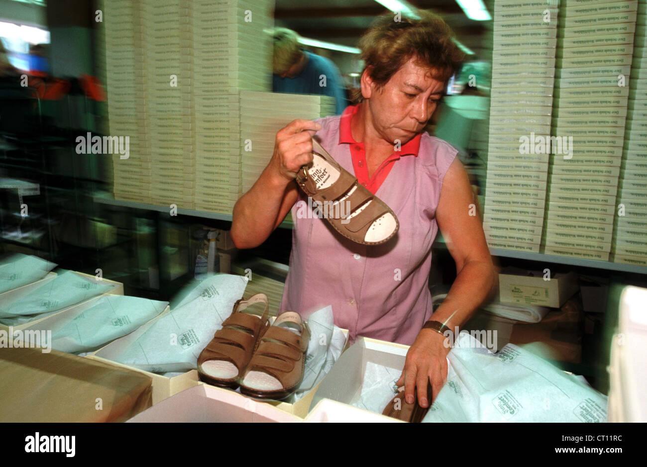 WALDI Schuhfabrik in Haßfurt am Main Stockfoto, Bild ...