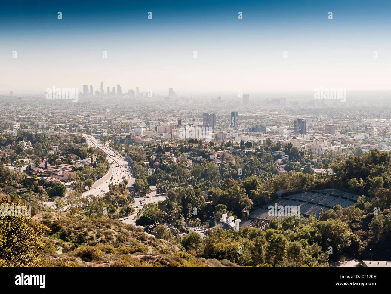Luftaufnahme von Los Angeles Stockbild
