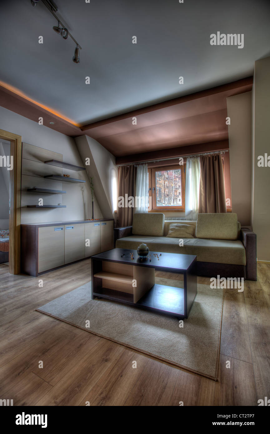 Schöne Wohnung Architektur Teppich Stuhl Komfort Gemütliche
