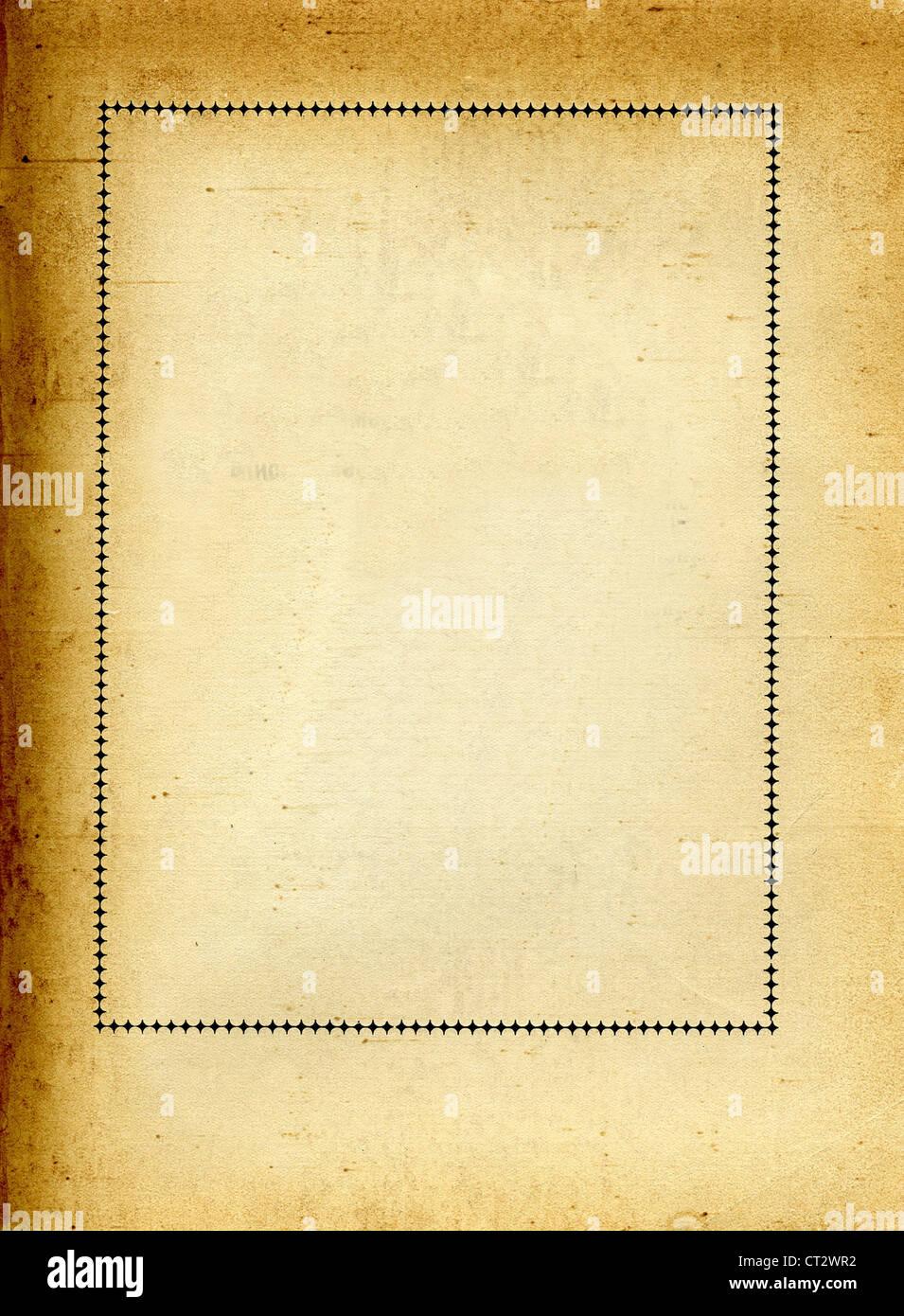 Rahmen auf altes Papier Stockfoto, Bild: 49236630 - Alamy