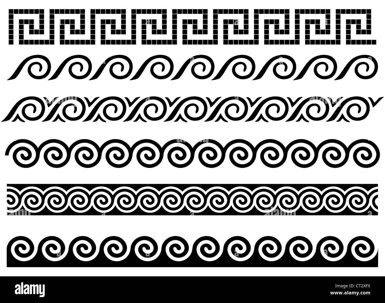 M 228 Ander Und Welle Antiken Griechischen Grenzen Reihe Von