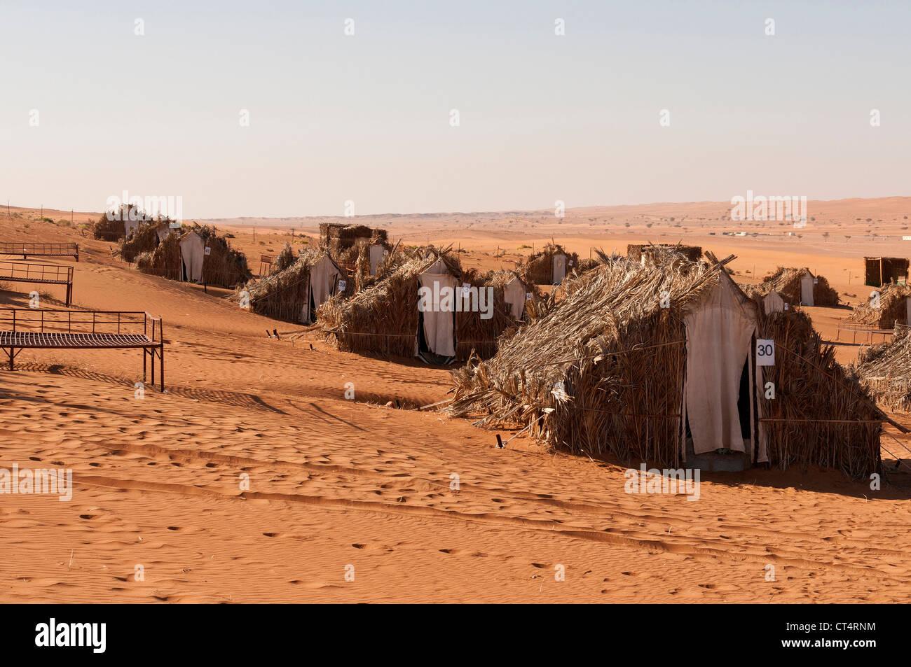 Elk207-2142 Oman, Wahibah (Sharqiya) Sand, Al Areesh camp Stockbild