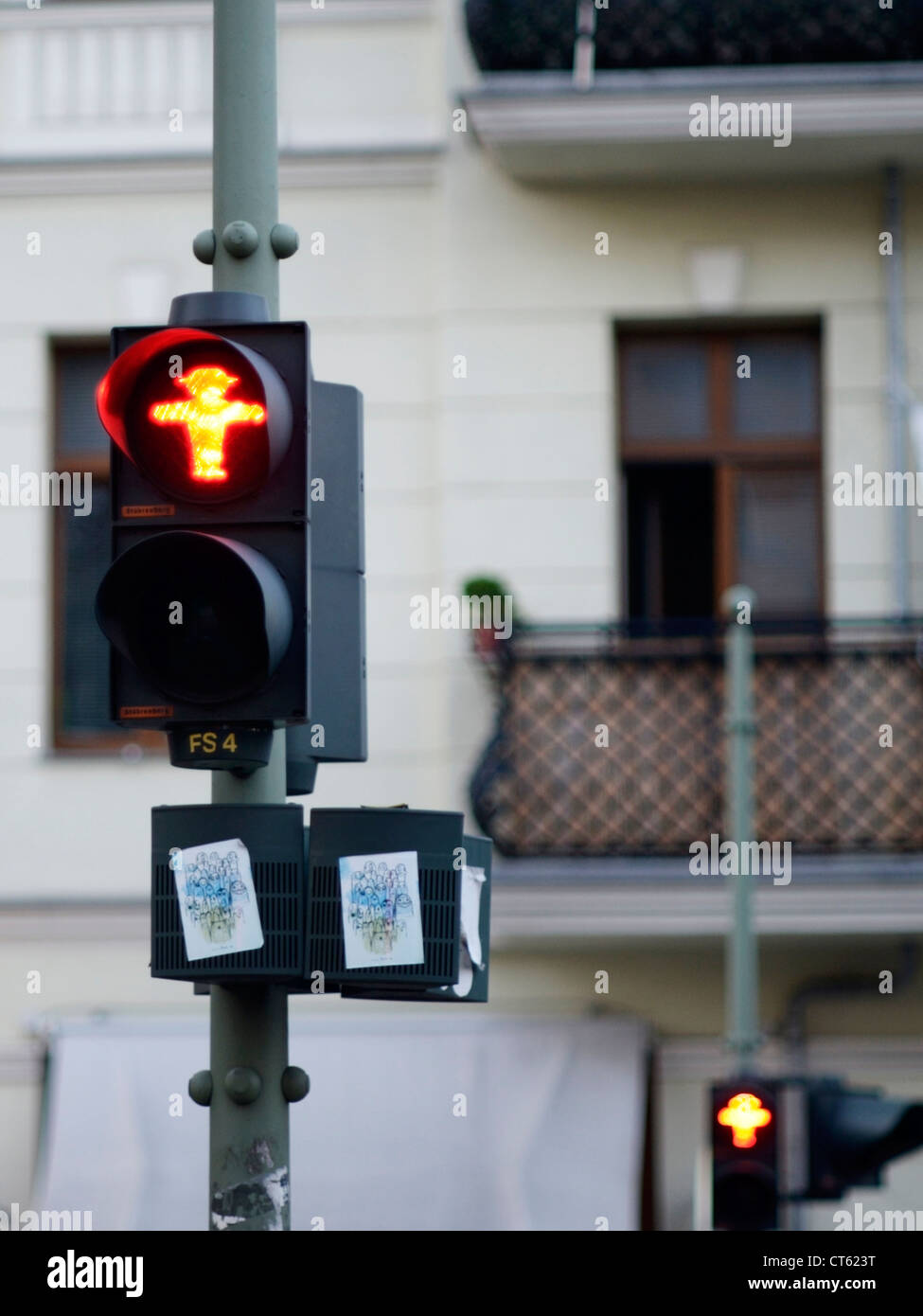 Ampel in Berlin Stockfoto
