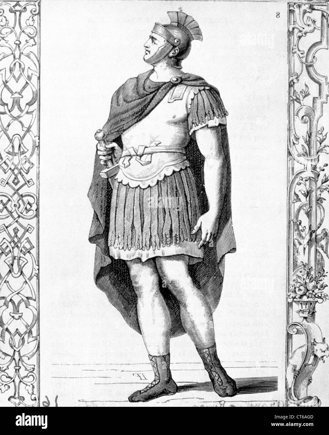 Illustration - römischer Soldat Stockbild