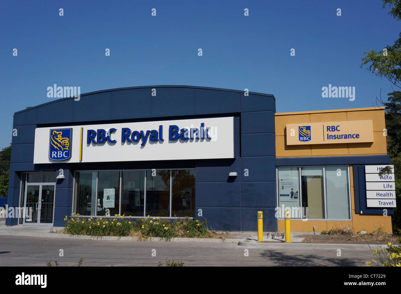 Lokale Niederlassung Royal Bank of Canada Stockbild