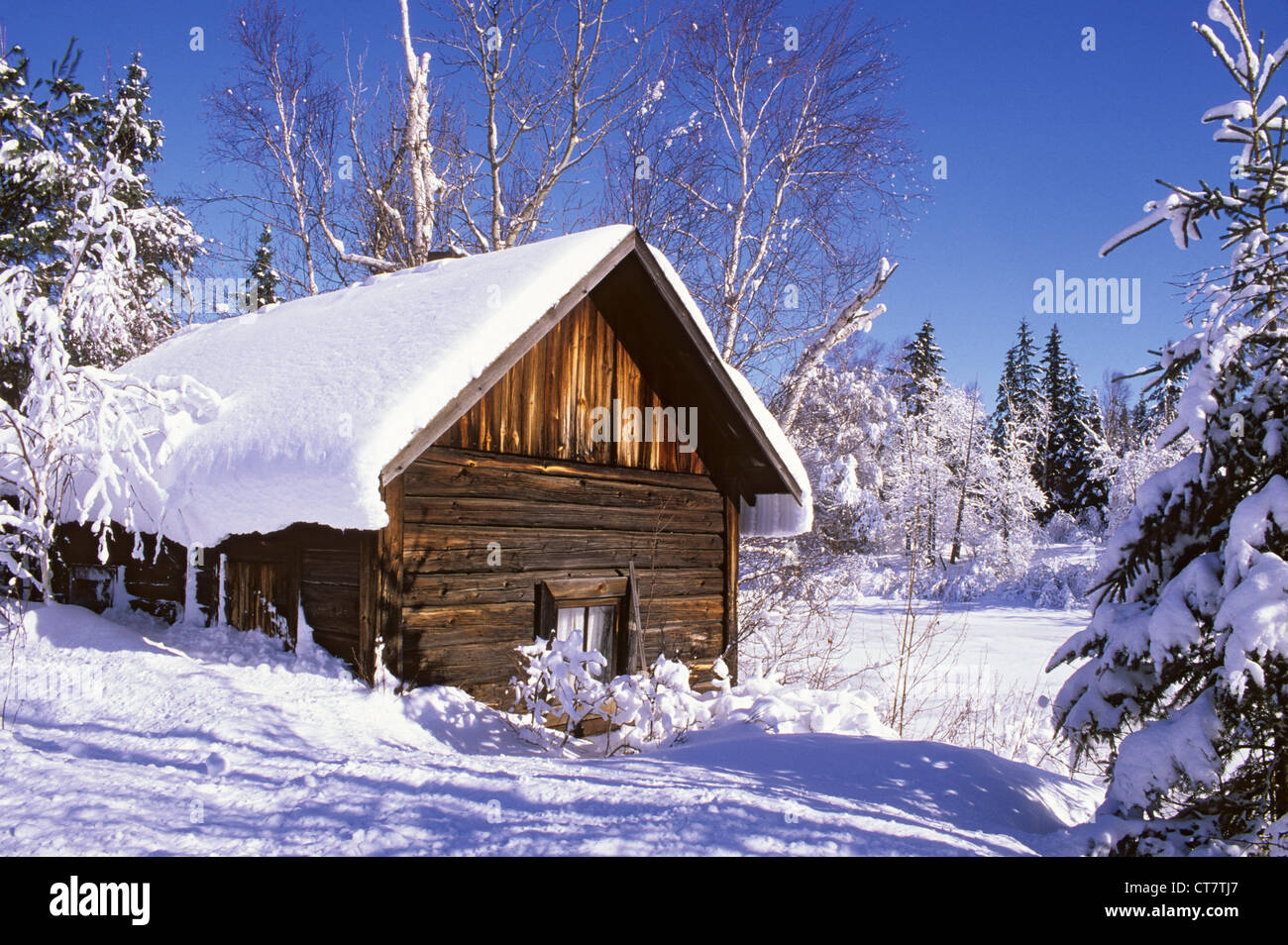 eine alte finnische log sauna im winter sudbury ontario kanada stockfoto bild 49345471 alamy. Black Bedroom Furniture Sets. Home Design Ideas