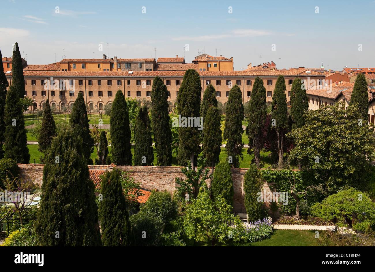 Venedig, Italien. Das Gästehaus der Kirche Redentore auf der Giudecca, bekannt als Camplus Stadt Herzen Redentore Stockbild