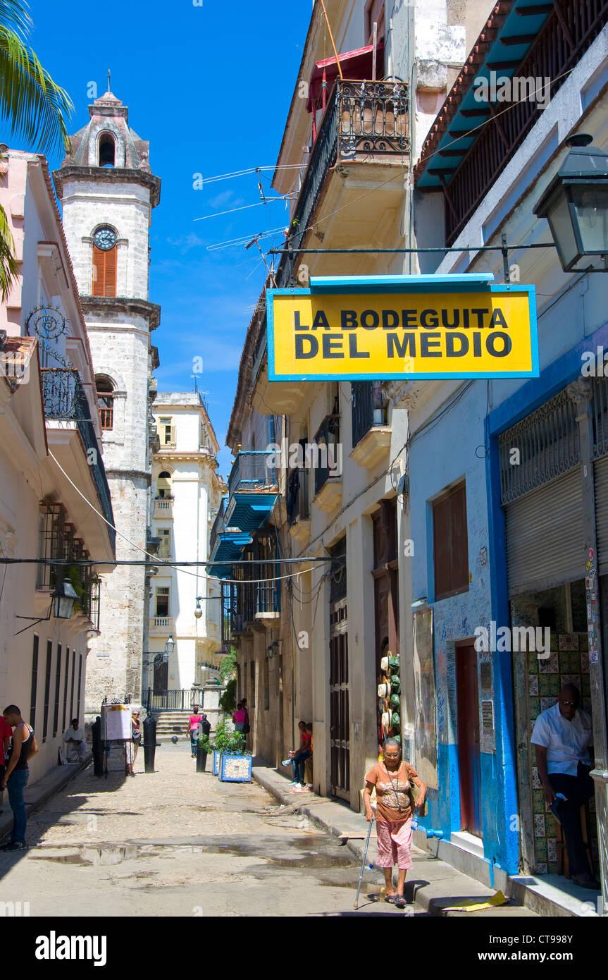 La Bodeguita del Medio, La Havanna, Kuba Stockbild