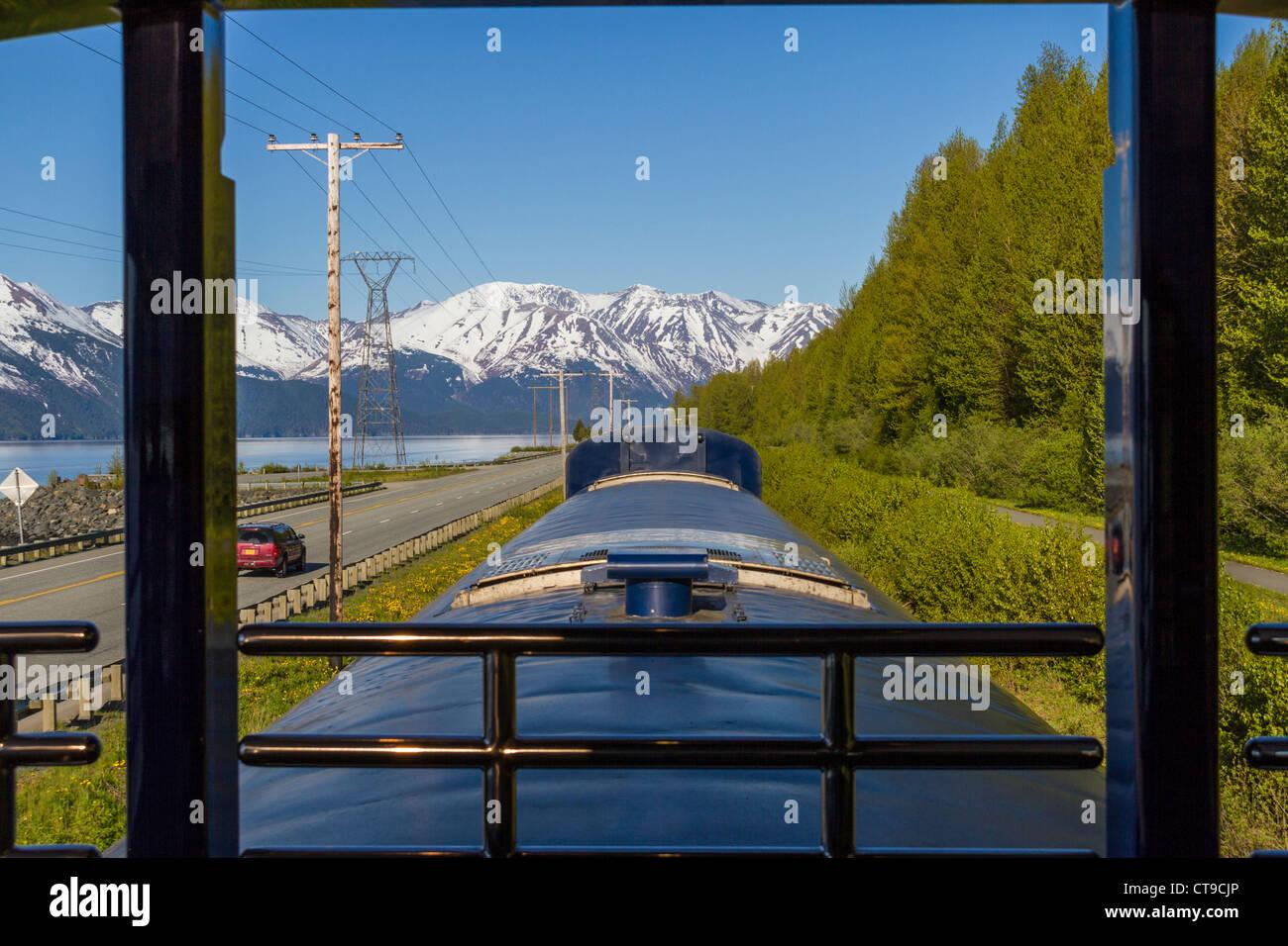 Alaska Railroad Coastal Classic Train Von Anchorage Nach Seward Alaska Stockfotografie Alamy