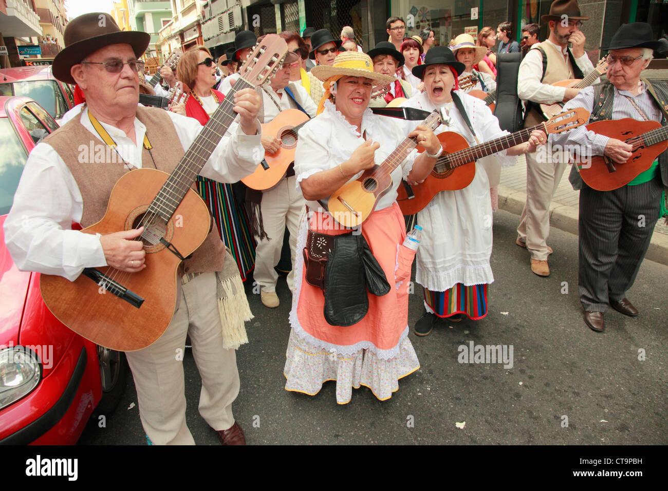Spanien, Kanarische Inseln, Gran Canaria, Las Palmas, Dia de Las Canarias, Festival, Menschen, Tracht, Stockbild