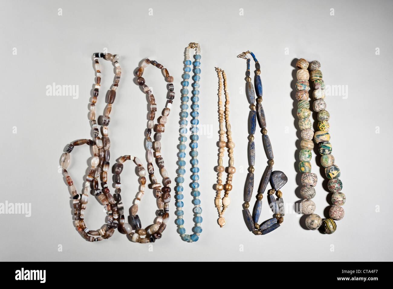 Hellenistische und römische Perlen Halsketten Stockbild