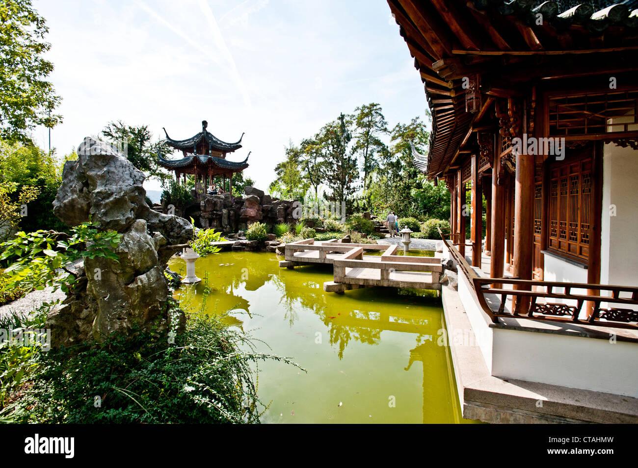 Chinesischer Garten In Stuttgart Baden Württemberg Deutschland