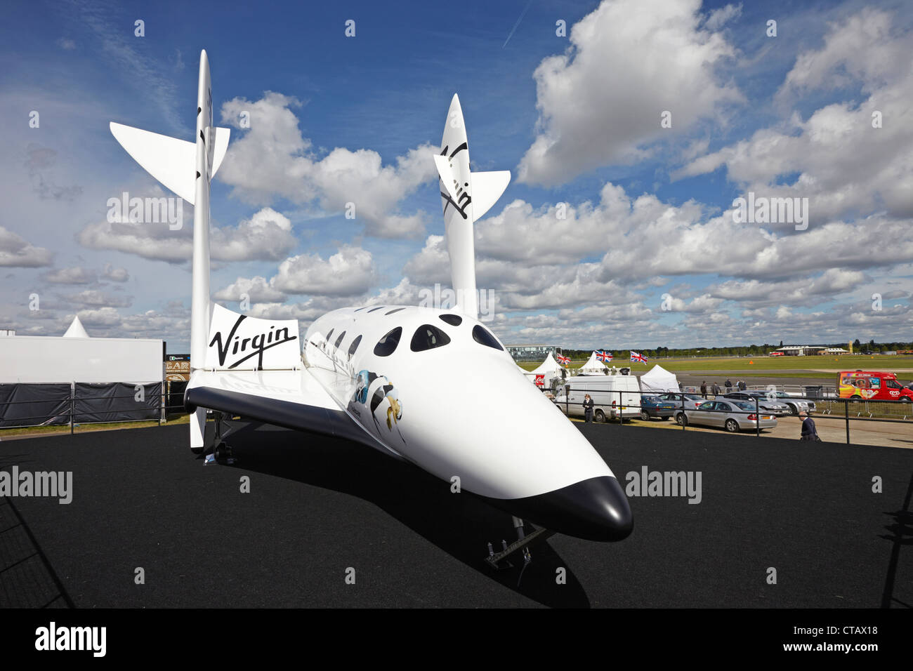 Farnborough International Airshow Virgin Galactic SpaceShipTwo Stockbild