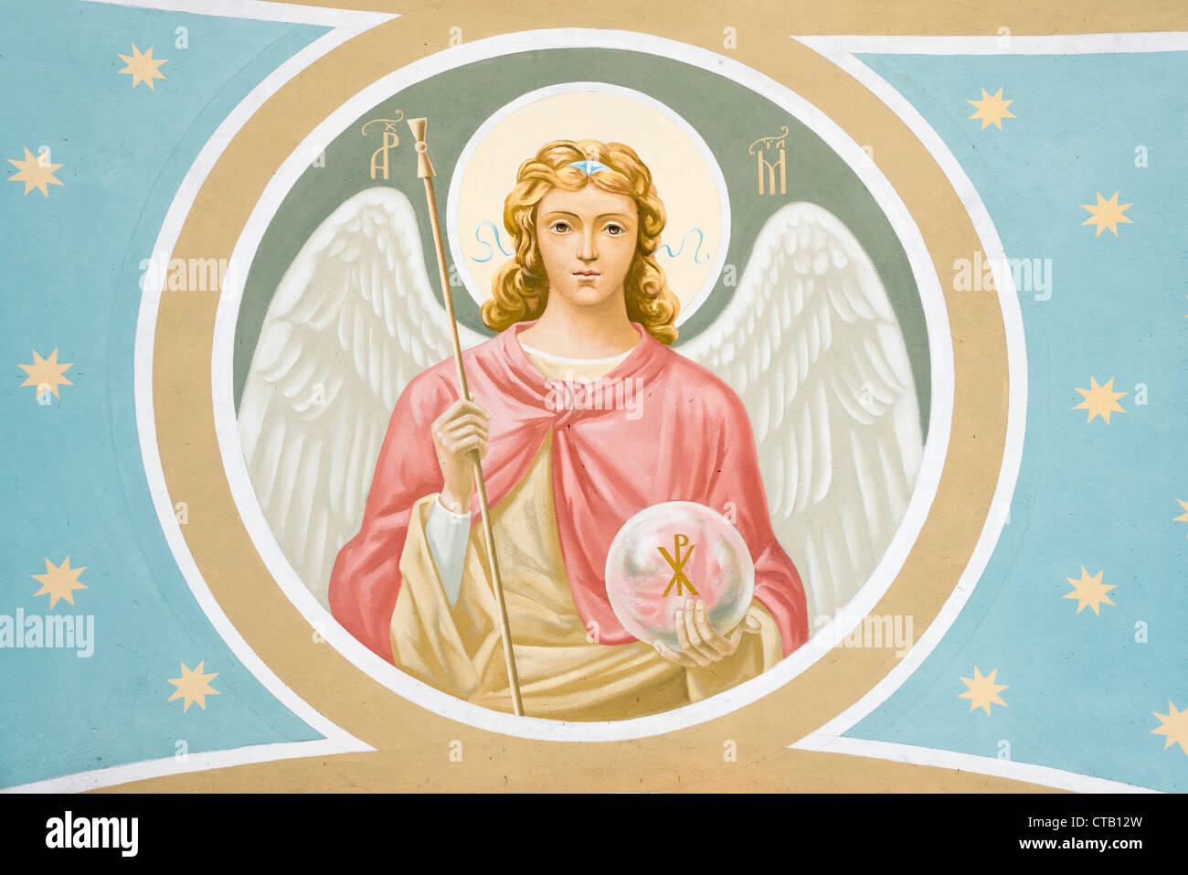archangel michael icon stockfotos archangel michael icon bilder alamy. Black Bedroom Furniture Sets. Home Design Ideas