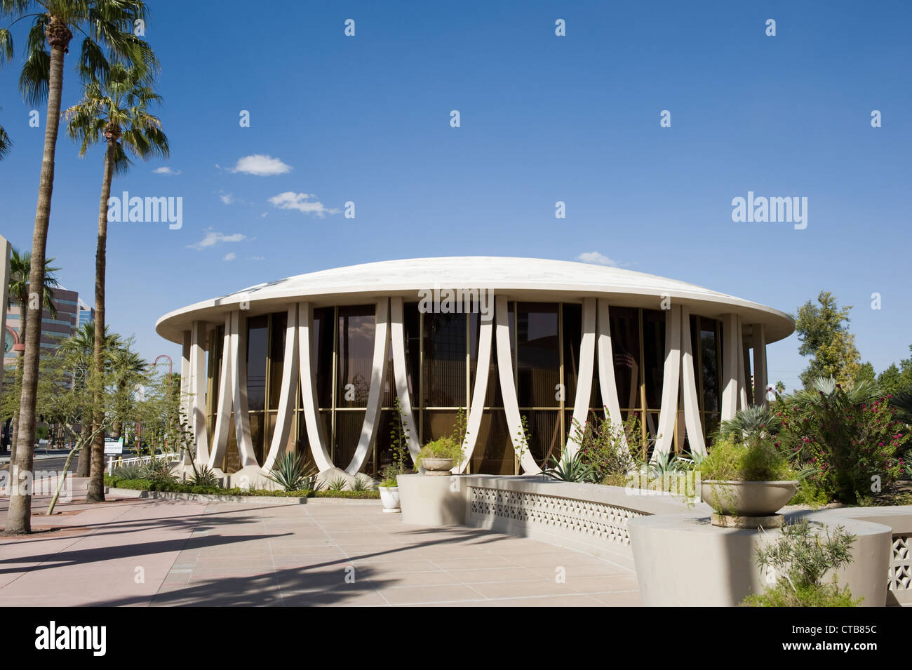 Der Norden-Rotunde im Phoenix Financial Center, Innenstadt von Phoenix, Arizona Stockbild