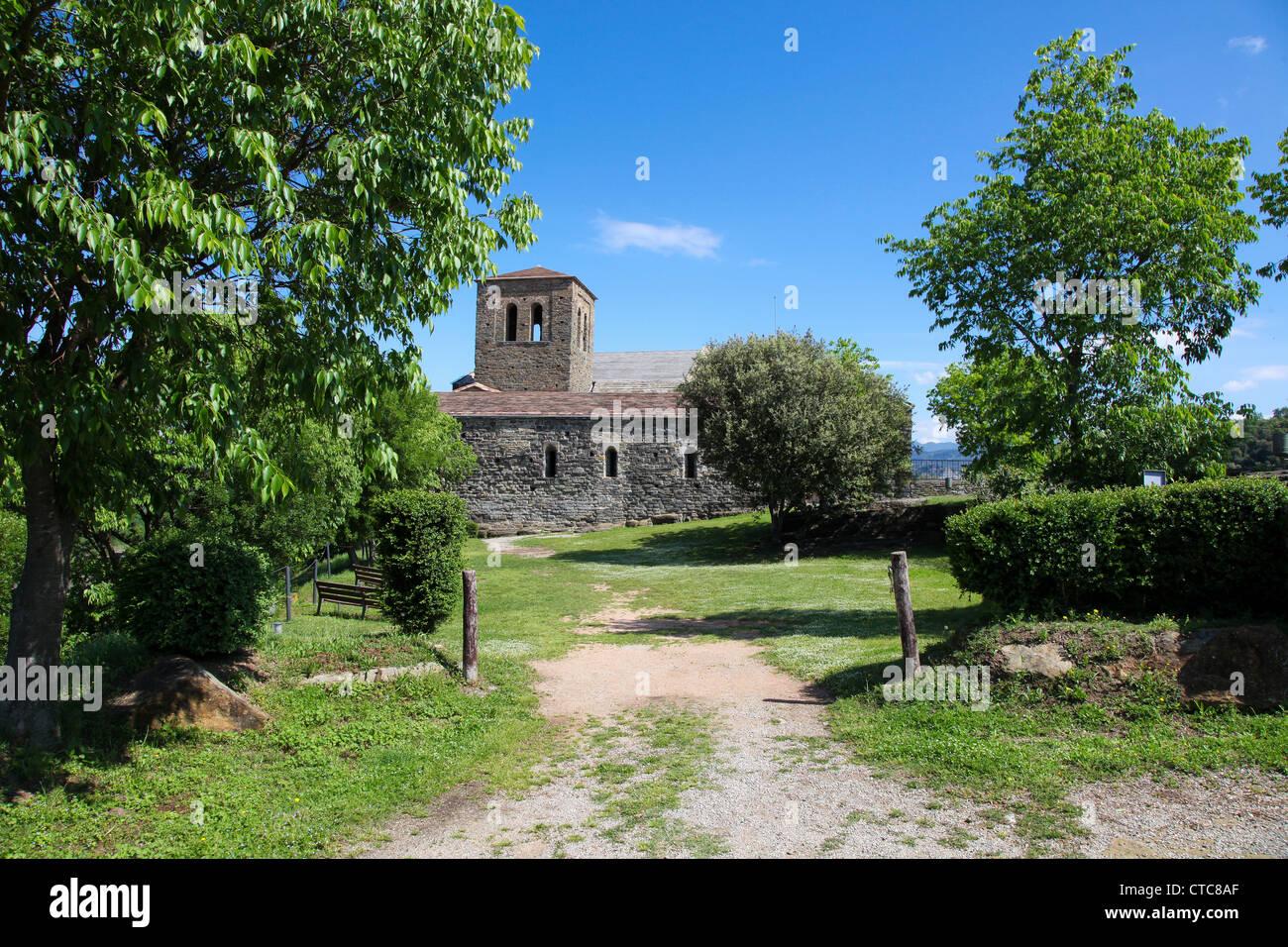 Sant Perre de Casserres in Katalonien Stockbild