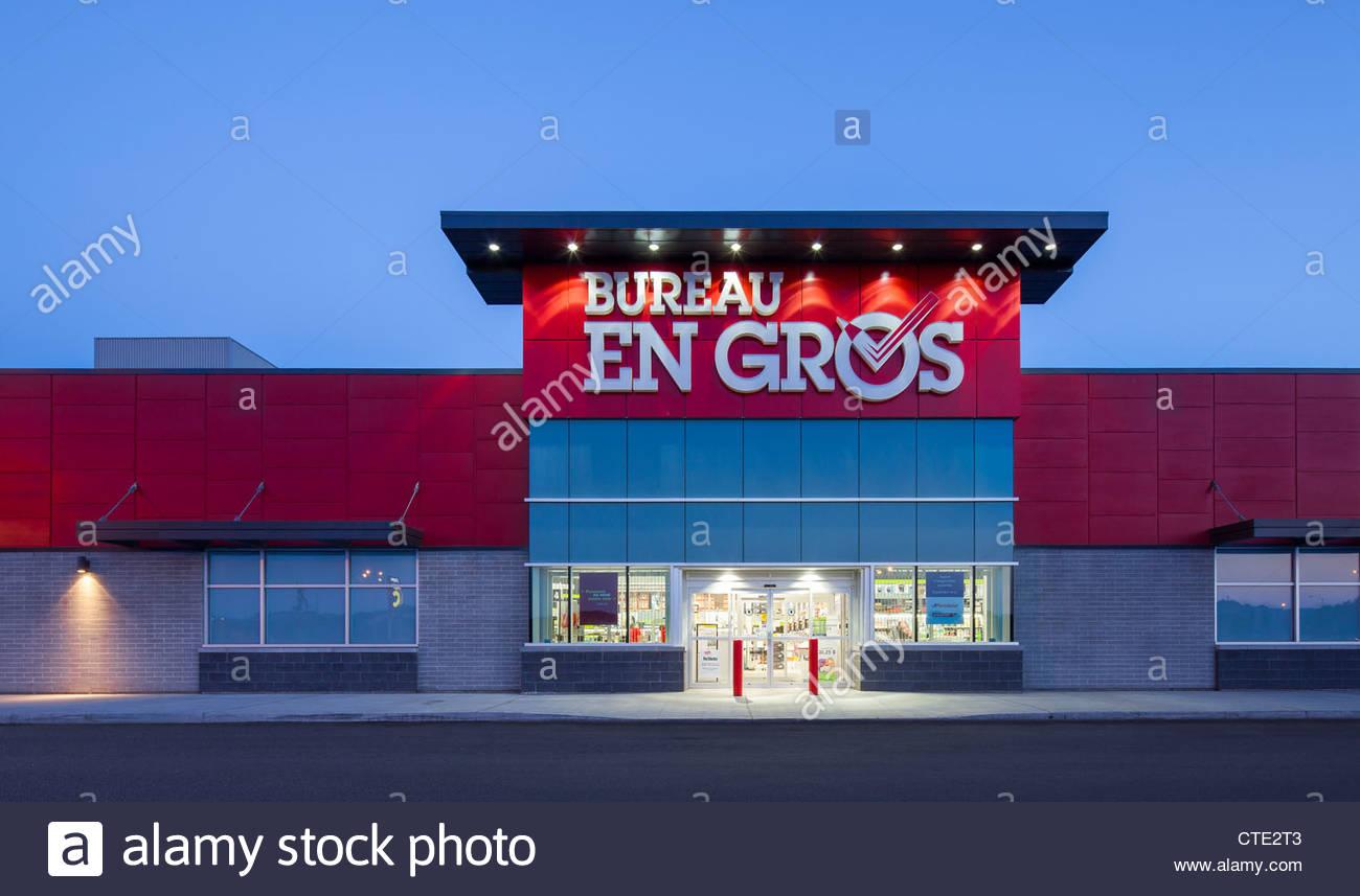 Einzelhandel kraftzentrum im vorort von quebec kanada stockfoto