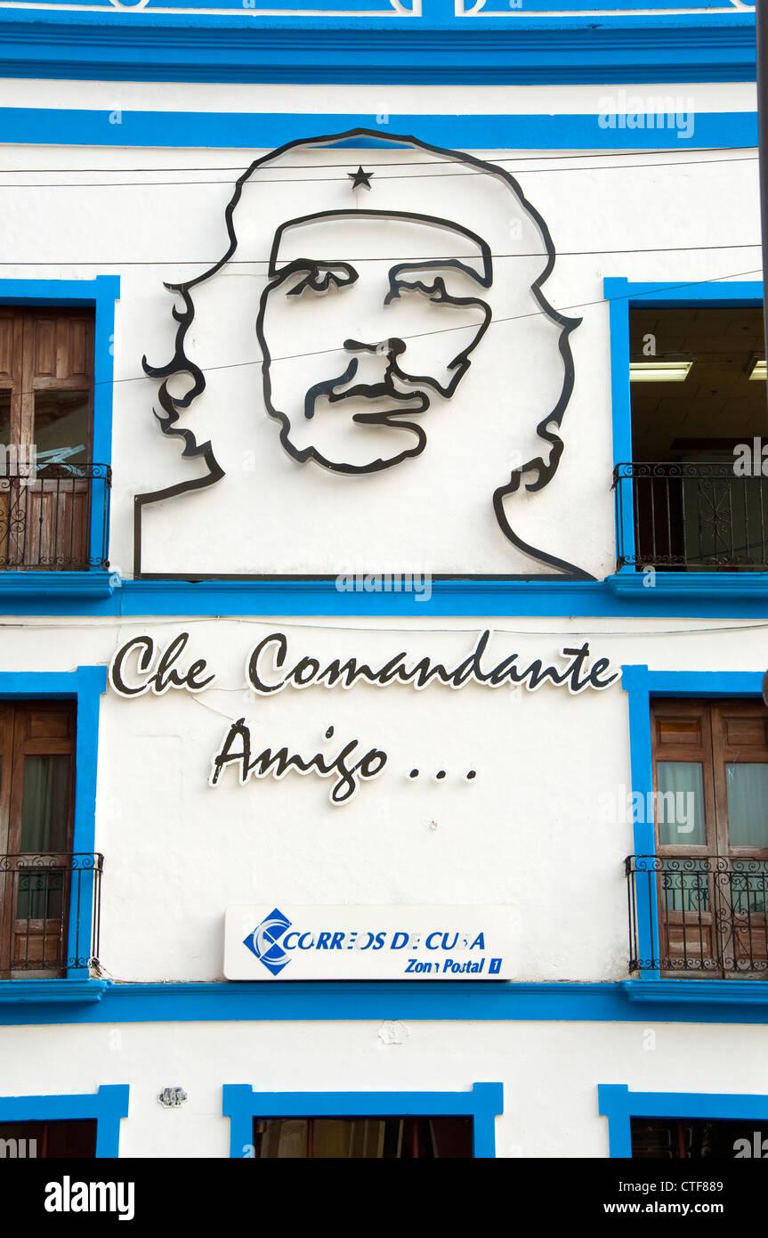 Che Guevara Wandbild, Camagüey, Kuba Stockbild
