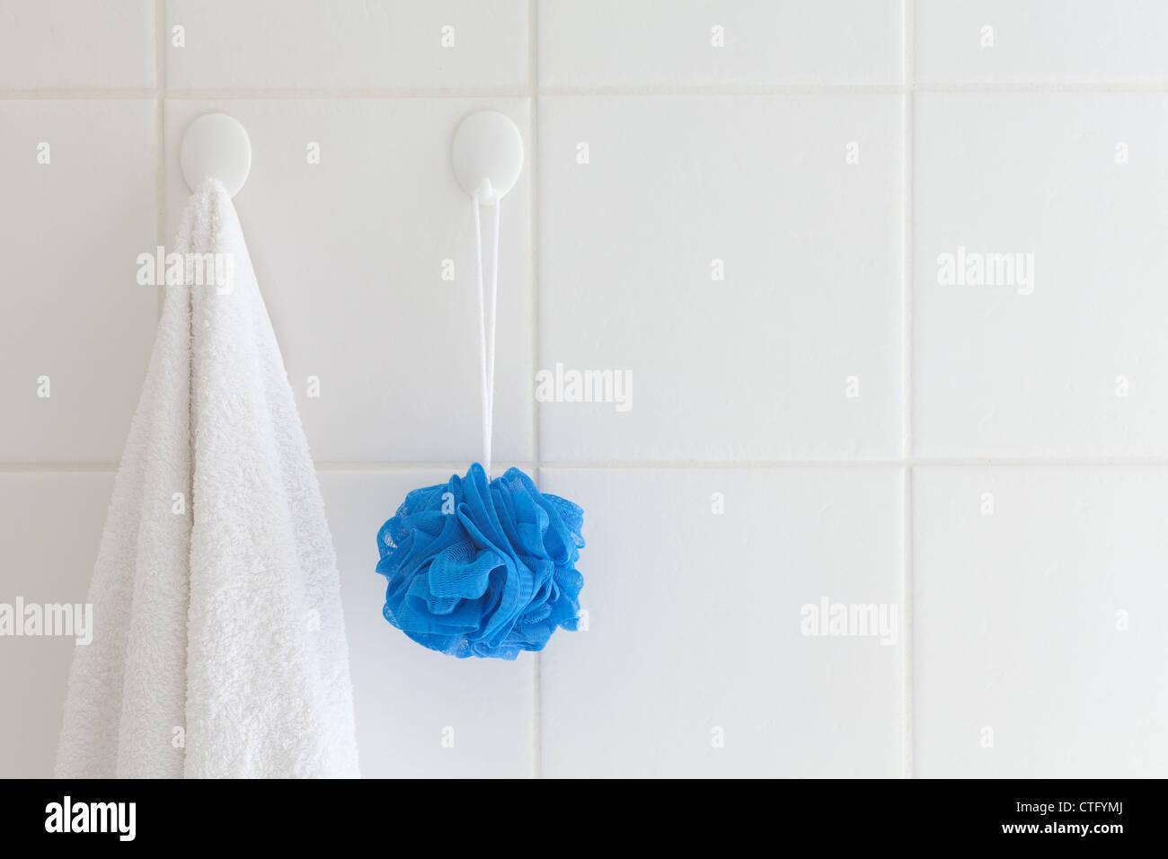 Befestigt Badezimmer Blau Keramik Reinigen Waschlappen - Fliesen von fugenmasse reinigen