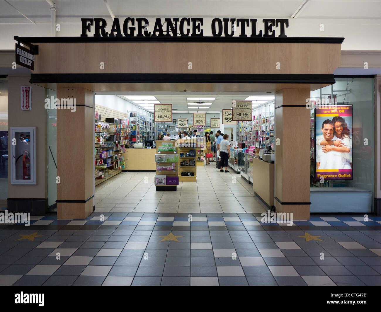 Duft Outlet Store Eingang Einzelhandel Shopping-mall Stockbild